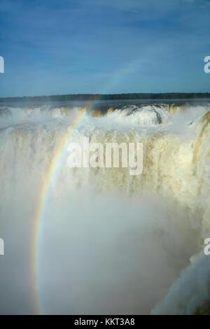 Devil's Throat (Garganta del Diablo), Iguazu Falls, on Argentina - Brazil Border, South America - Stock Photo