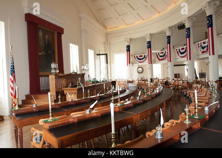 Springfield, Illinois, USA. Sept 2010 -Old State Capitol and Chamber of Representatives,historical building where - Stock Photo