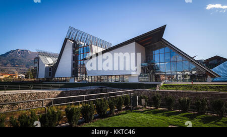 Trento, Italy - November 19, 2017: The 'MUSE' is the Museum of Science in Trento designed by Italian architect Renzo - Stock Photo