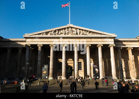 british museum london front facade with neoclassical architecture