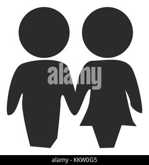 Love valentines silhouette icons - Stock Photo