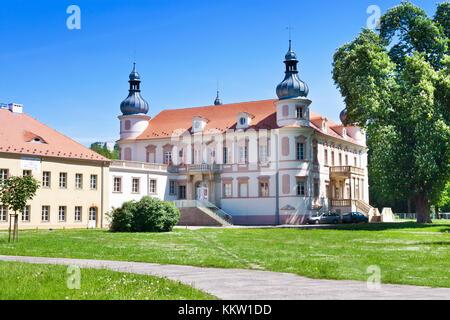 renaissance castle Krasne Brezno, Usti nad Labem, Czech republic - Stock Photo