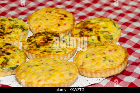 individual vegetable cakes for sale at the fair - Stock Photo