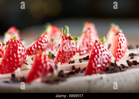 Delicious food on the wooden table - Stock Photo