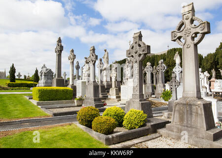 A beautiful Irish cemetery. ----- Ireland, Dublin - May 22, 2015: photograph of the cemetery in Dublin on a beautiful - Stock Photo