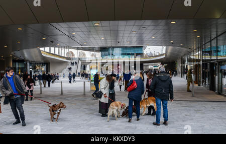 At the Tre Torri District of Milan, Lombardy, Italy, a new shopping district  was recently inaugurated, called CityLife - Stock Photo