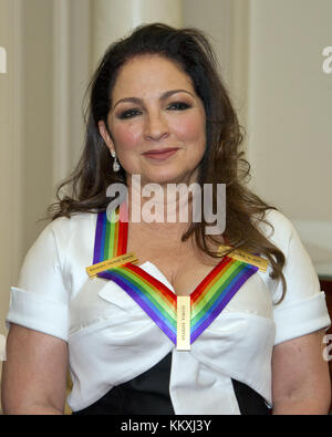 Washington DC, USA. 2nd December, 2017. Gloria Estefan, one of he five recipients of the 40th Annual Kennedy Center - Stock Photo