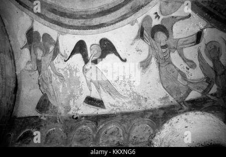 Chapel Frescoes in Montoire sur le Loir, France (7026903707) - Stock Photo
