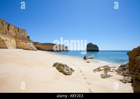Portugal - Algarve - Praia da Marinha - Europe - Stock Photo