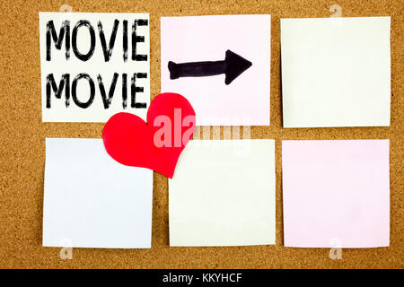 Conceptual hand writing text caption inspiration showing Movie concept for Entertainment Movie Film and Love written - Stock Photo