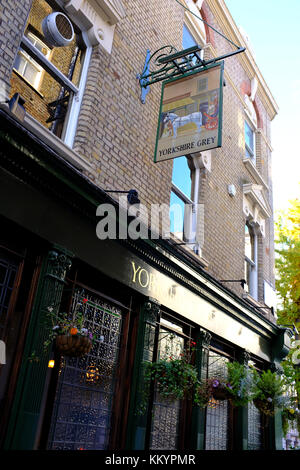 The Yorkshire Grey, Langham Street, London, United Kingdom - Stock Photo