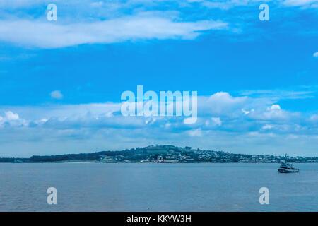 Looking across the bay in Montevideo, Uruguay - Stock Photo