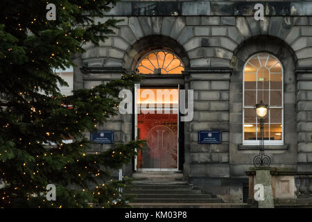 Edinburgh University Old College at christmas, Scotland, UK - Stock Photo