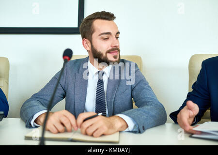 Participating in Business Conference - Stock Photo