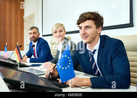 Productive Discussion of Political Forum Members - Stock Photo