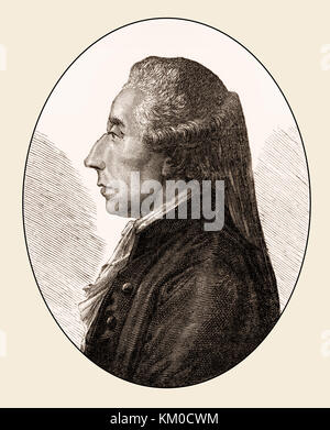 Jean Sylvain Bailly, 1736 – 1793, a French astronomer, mathematician, political leader of the French Revolution - Stock Photo