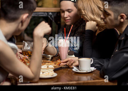 People Drinking Coffee in cafe Concept - Stock Photo