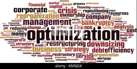 Optimization word cloud concept. Vector illustration - Stock Photo