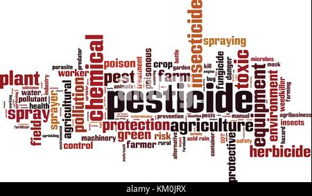 Pesticide word cloud concept. Vector illustration - Stock Photo