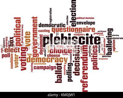 Plebiscite word cloud concept. Vector illustration - Stock Photo