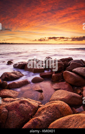 A magical sunrise on the Fleurieu Peninsula at Port Elliot - Stock Photo