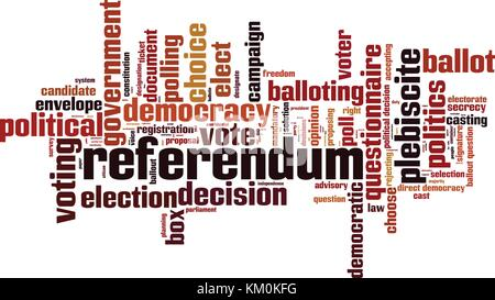 Referendum word cloud concept. Vector illustration - Stock Photo