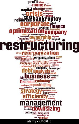 Restructuring word cloud concept. Vector illustration - Stock Photo