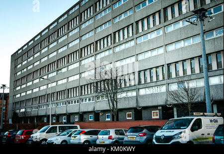 Category A listed Cables Wynd social housing Council block of flats, known as Banana flats, Leith, Edinburgh, Scotland, - Stock Photo
