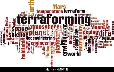 Terraforming word cloud concept. Vector illustration - Stock Photo