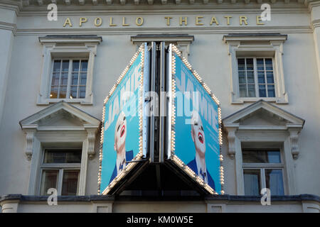 Theatre Signage at the Apollo Theatre on Shaftesbury Avenue in London's West end currently showing  Everybody's - Stock Photo