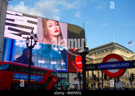 The iconic Piccadilly Lights, now known as 'The Curve' at Piccadilly Circus, London. - Stock Photo