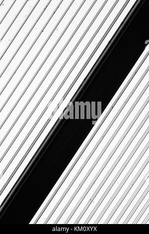 Black and White Stripes - monochrome pattern - Stock Photo