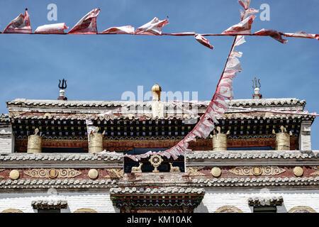 Monastery temple in Karakorum, capital of the mongolian empire - Stock Photo