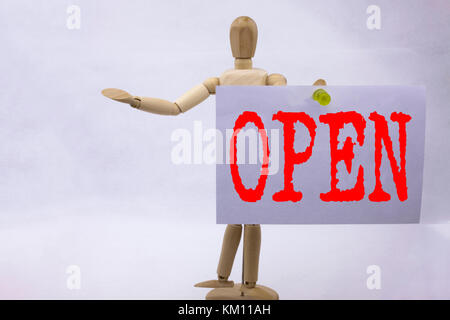 Conceptual hand writing text caption inspiration showing Open Business concept for shop Opening written on sticky - Stock Photo