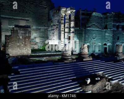 AJAXNETPHOTO. 2015. ROME, ITALY. - ROMAN RUINS - FORUM OF AUGUSTUS, COMMEMORATES BATTLE AT PHILIPPI, LOCATED NEAR - Stock Photo