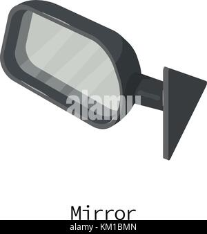 Mirror car icon, isometric 3d style - Stock Photo