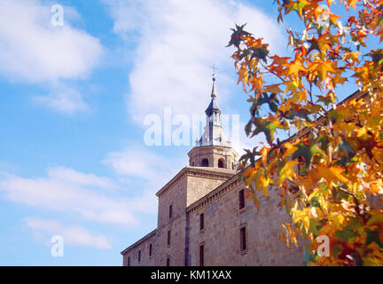 Facade of Yuso monastery. San Millan de la Cogolla, La Rioja, Spain. - Stock Photo