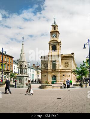 Market town of Coleraine, County Derry Londonderry Ireland. The Town Hall dating from 1743 in the town centre. - Stock Photo