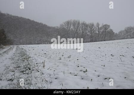winter landscape in thuringia - Stock Photo