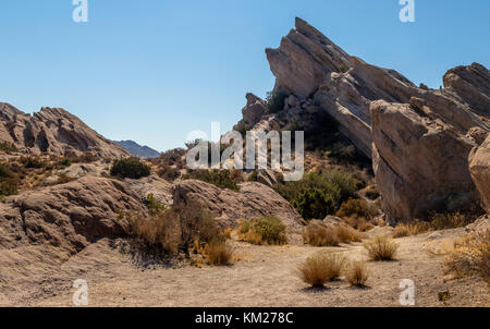 Vasquez Rocks Natural Area in the Sierra Pelona Mountains, in northern Los Angeles County, California, USA - Stock Photo