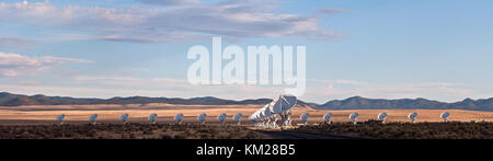 Radio Dish Telescopes at the Very Large Array National Radio Astronomy Observatory, Socorro, New Mexico, USA - Stock Photo