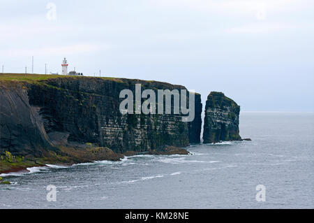 High cliffs in the Loop Head peninsula, County Clare, Ireland - Stock Photo