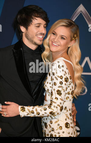 Nashville, TN, USA. 8th Nov, 2017. 02 December 2017 - Kelsea Ballerini walked down the aisle and wed her fiancŽ, - Stock Photo