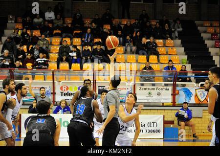Minturno, Italy. December 3, 2017. Basketball game Basket Scauri against Basket Stella Azzurra Roma, Italian National - Stock Photo