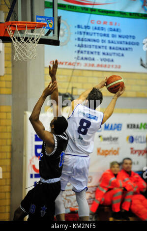 Minturno, Italy. December 3, 2017. Basketball game Basket Scauri against Basket Stella Azzurra Roma, Italian National - Stock Photo