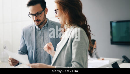 Business meeting in modern conference room - Stock Photo