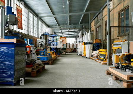 Empty Workshop of Modern Plant - Stock Photo