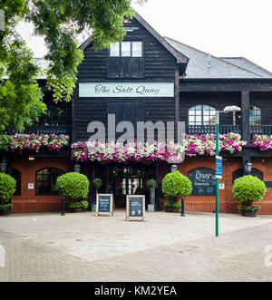 The Salt Quay pub  front entrance. It's located by the Thames in South London, UK - Stock Photo