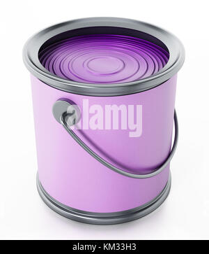 Paint can isolated on white background. 3D illustration. - Stock Photo
