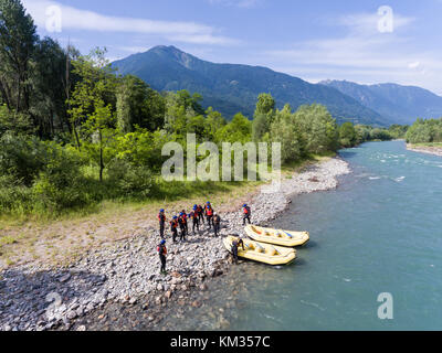 Rafting and kayaking in Valtellina - Stock Photo